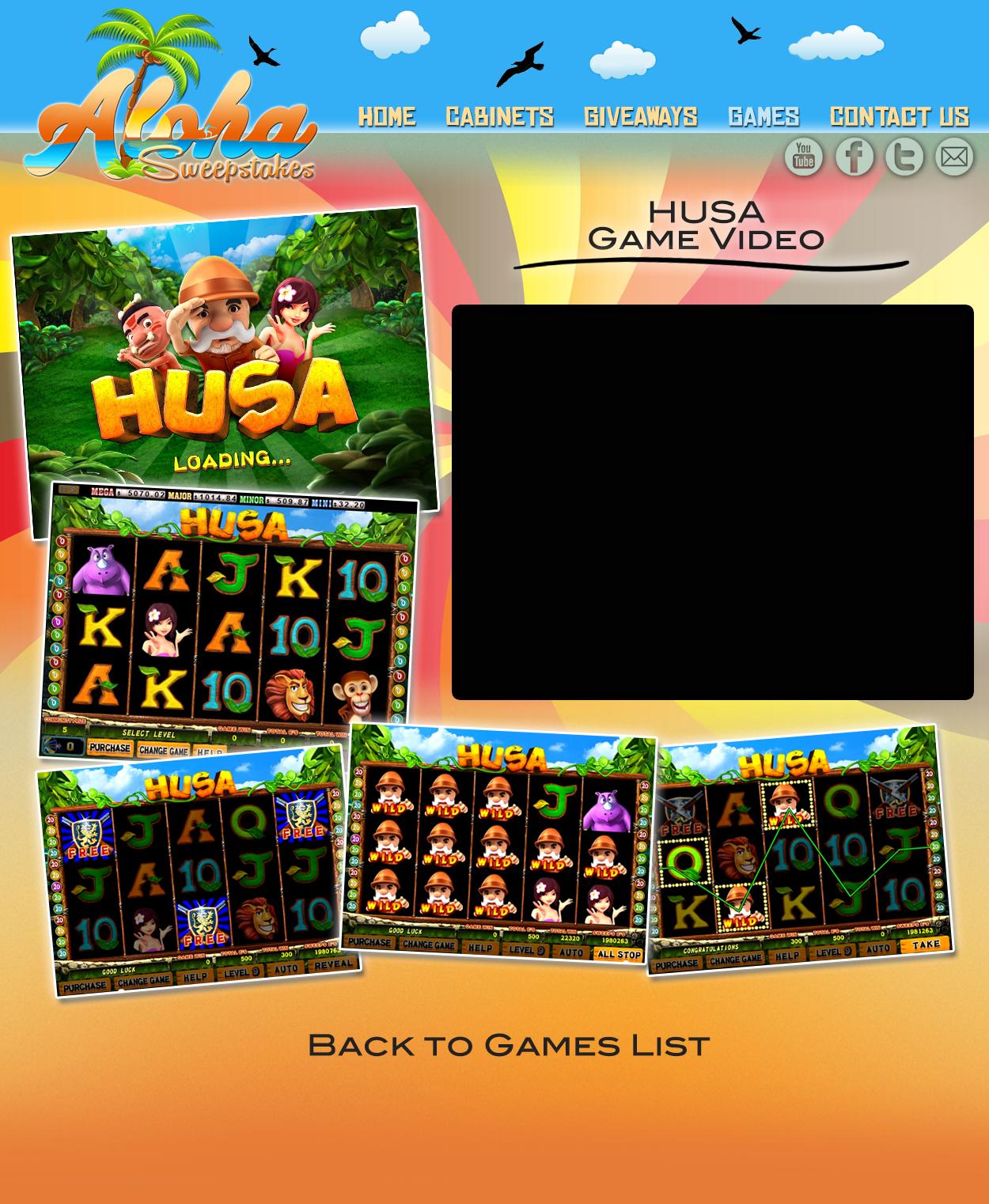 Aloha Sweepstakes Games Videos - HUSA